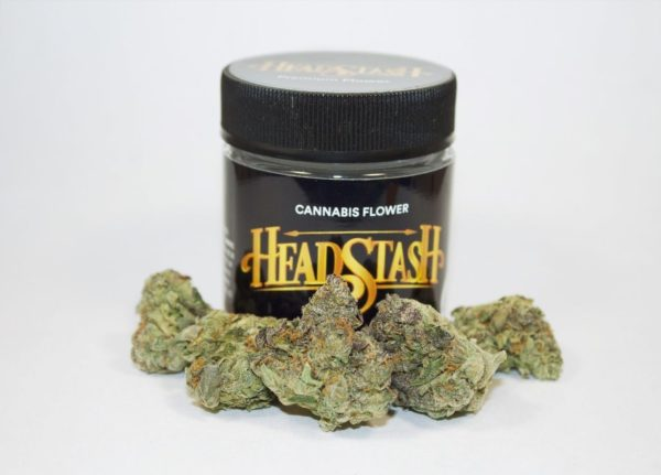 Sour Headstash buds in a jar